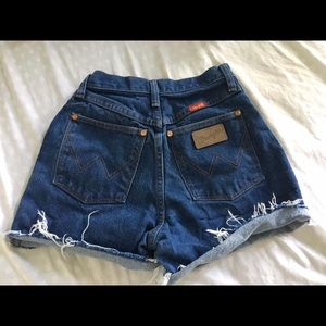 Wrangler cutoffs high waisted
